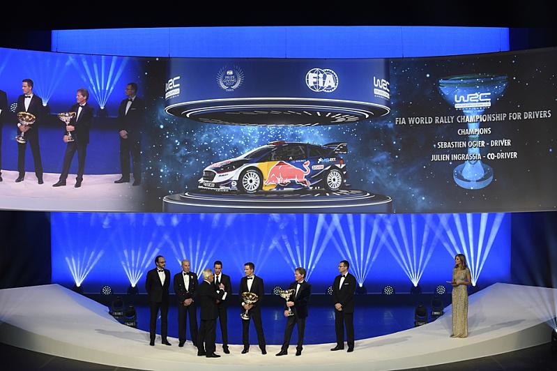 Slavnostní předávání titulů mistrů světa v motoristickém sportu